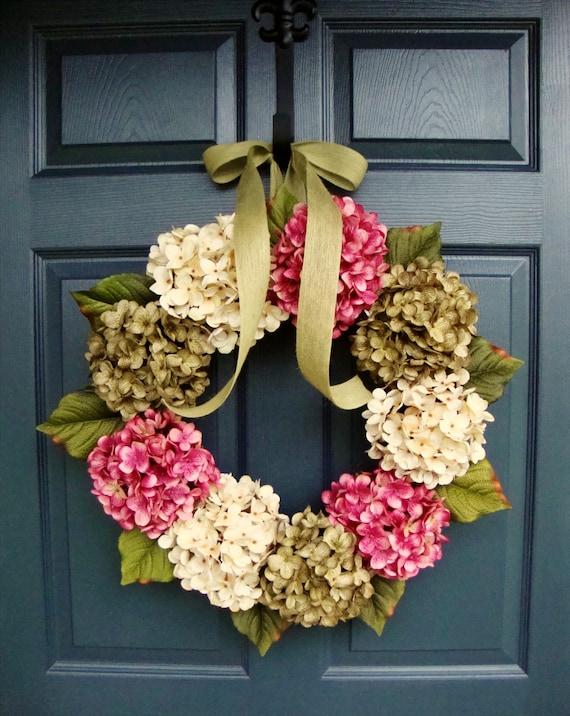 Summer Wreaths Door Wreath Hydrangea Wreath Front Door | Etsy