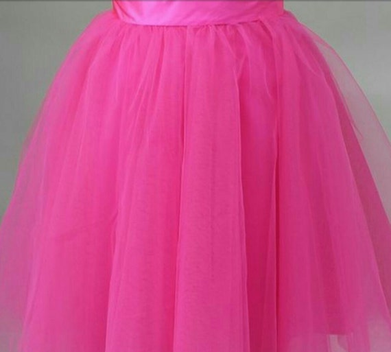 Fushia Tulle Skirt