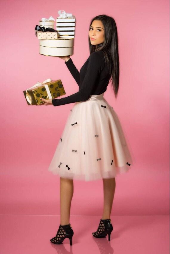 Bow Tulle skirt, Blush Tulle skirt, Tulle Skirt, Holiday Tulle skirt