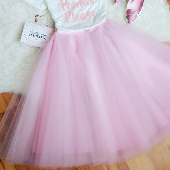 Pink Tulle Skirt, Tulle skirt, Engagement Tulle skirt, Holiday Tulle skirt, Christmas Tulle skirt, Wedding Tulle Skirt