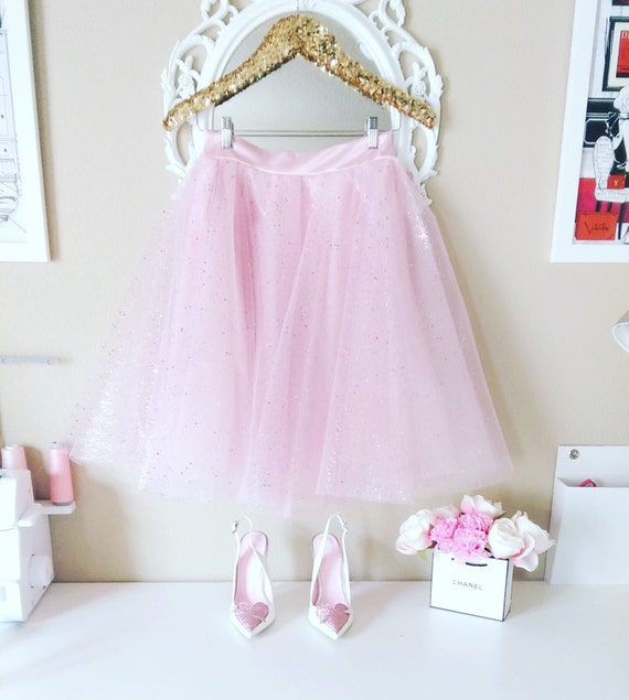 Pink Confetti Tulle skirt, Confetti Tulle skirt, Glitter Tulle Skirt, Tulle skirt, Holiday Tulle Skirt, Glitter skirt, Bridal Shower Skirt