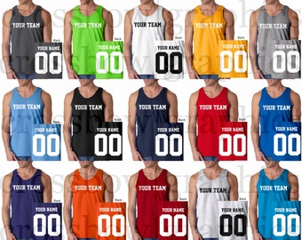 0269ef615e5 CUSTOM Tank Top JERSEY Personalized Any Color, Name, Number, Team Softball,  Basketball, Football New!