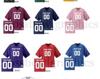 f60ab957d CUSTOM Football Jersey ANY Color Personalized Numbers Name   Team! S-3XL