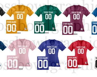 7248b634989 CUSTOM Ladies Football Jersey ANY Color Personalized Numbers Name   Team