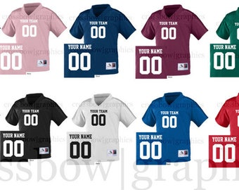 f32d6fb70a7 CUSTOM TODDLER Football Jersey ANY Color Personalized Numbers Name & Team  New!