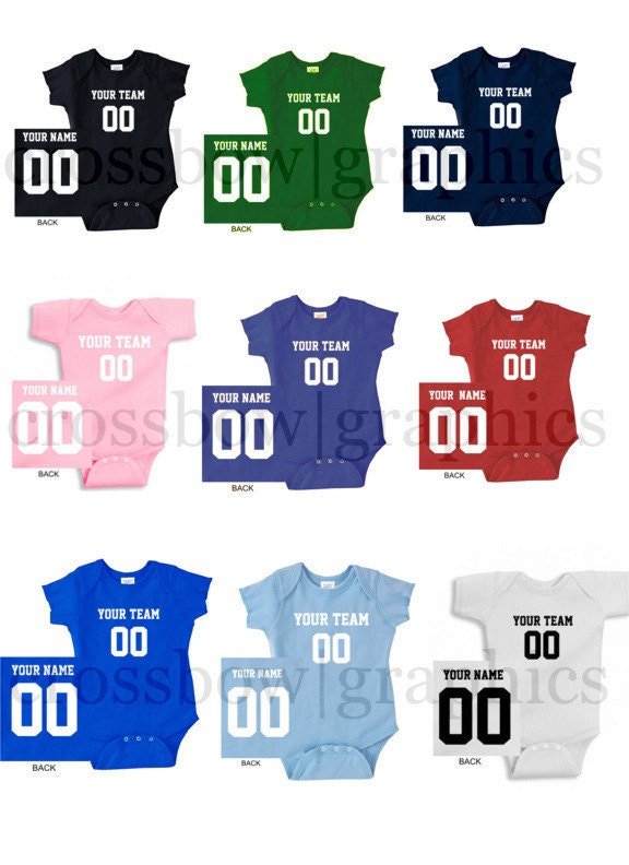 CUSTOM Infant Creeper Bodysuit Jersey PERSONALIZED One-piece  9d8073c15