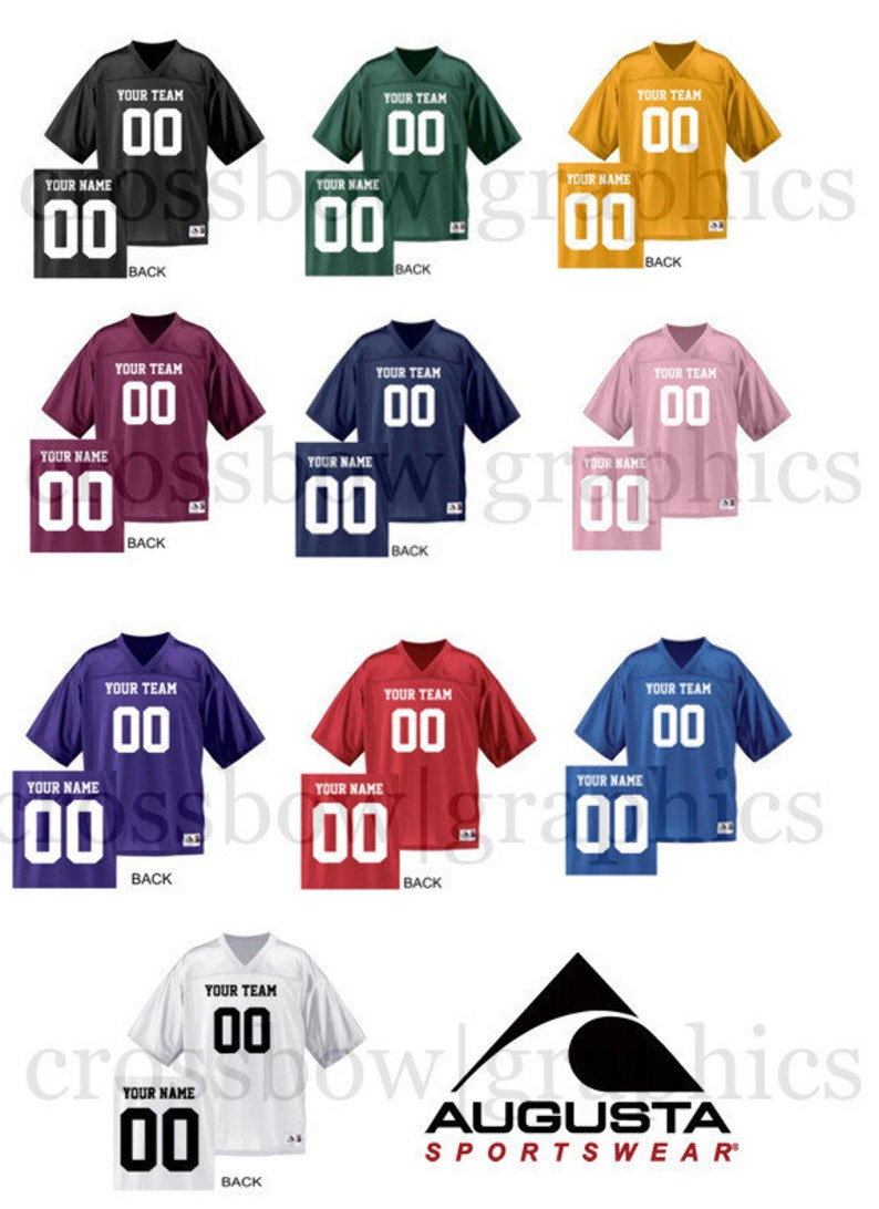 320ebabfe51 CUSTOM Football Jersey ANY Color Personalized Numbers Name