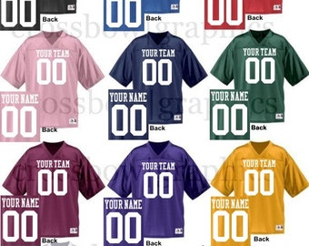 CUSTOM Football Jersey ANY Color Personalized Numbers Name & Team! XS-3XL