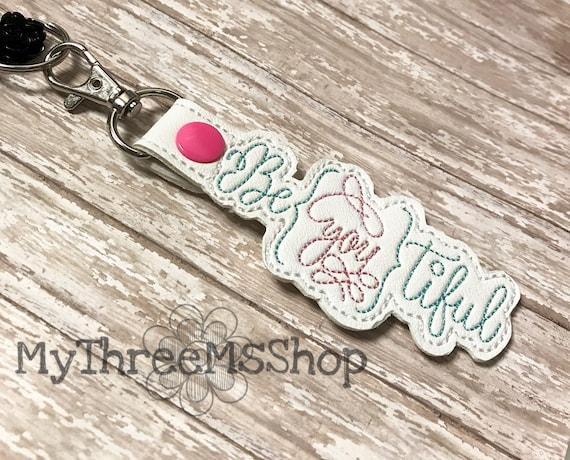 BeYouTiful Keychain Beautiful Embroidered Snaptab Keychain  6ee91ee9a3