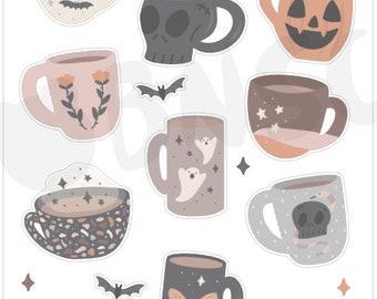 J-011-Spooky Mugs Journaling Deco Sheet