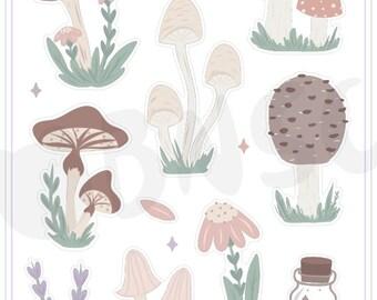 Journaling Deco Sheet- Crystal Garden Mushies