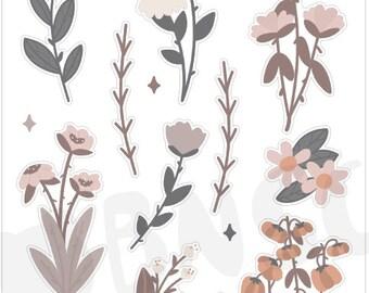 J-012-Autumn Florals Journaling Deco Sheet