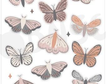 J-010-Butterflies & Moths Journaling Deco Sheet