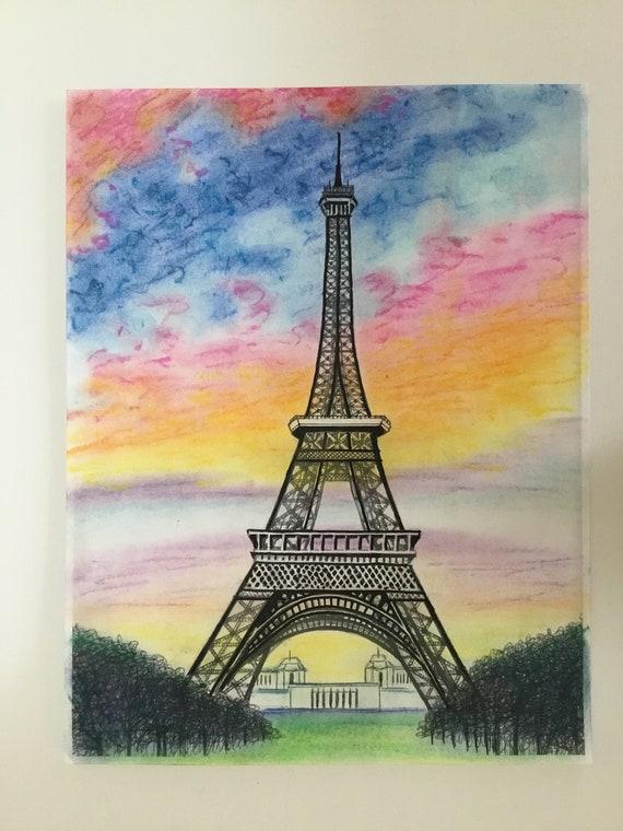 Eiffel Tower In Sunset