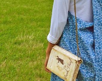 "The Book Thief Bag, The Book Thief gift, Book Thief clutch, Book Thief, Book Clutch, ""I am haunted by humans"""