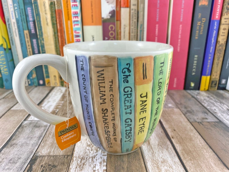 Book mug Hand painted mug Your choice of books Personalised image 0