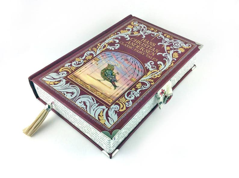 "Hans Christian Anderson, Prom clutch, Fairy Tales Jewellery Box, Fairy  Tales Clutch Bag, ""In olden times, when wishing still helped   """