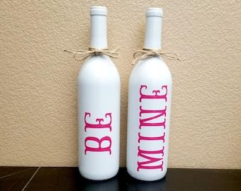 Valentine's Day Decor - Valentine's Day Wine Bottle - Valentine's Decor - Wine Bottle Decor - Wine Bottles - Wine Lovers Gift - Wine Gift
