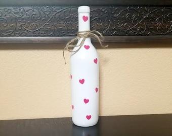Valentine's Day Decor - Valentine's Day Wine Bottle - Valentine's Decor - Wine Bottle Decor - Wine Bottles - Valentine's Day - Wine Gift