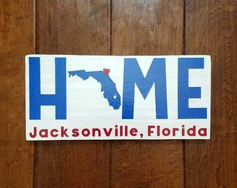 Home Sign - State Sign - Wood Sign - Wood State Sign - Military Sign - Custom Home Sign - Home Sweet Home - Home Sweet Home Sign