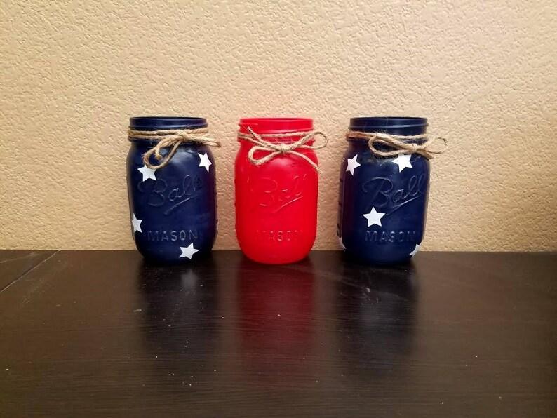 Fourth of July Mason Jars  4th of July Mason Jars  Mason image 0