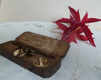 Antique Pocket size gold weighing scales 1880's/Libra scales/weighting scales/weights and measures/margalide