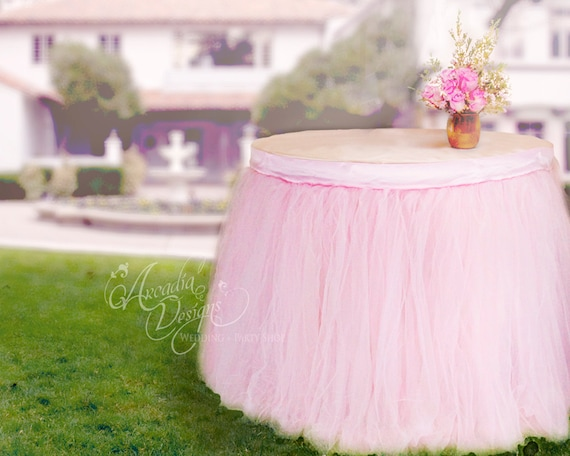 Pink Round Table.Round Table Pink Tutu Skirt Custom Made Tulle Tableskirt For Princess Party Table Wedding Cake Table Bridal Baby Shower Table Decoration