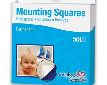 Permanent Mounting Squares from Scrapbook Adhesives - 500 Pieces