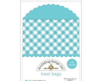 Treat Bags (Swimming Pool Gingham) - 15 Count