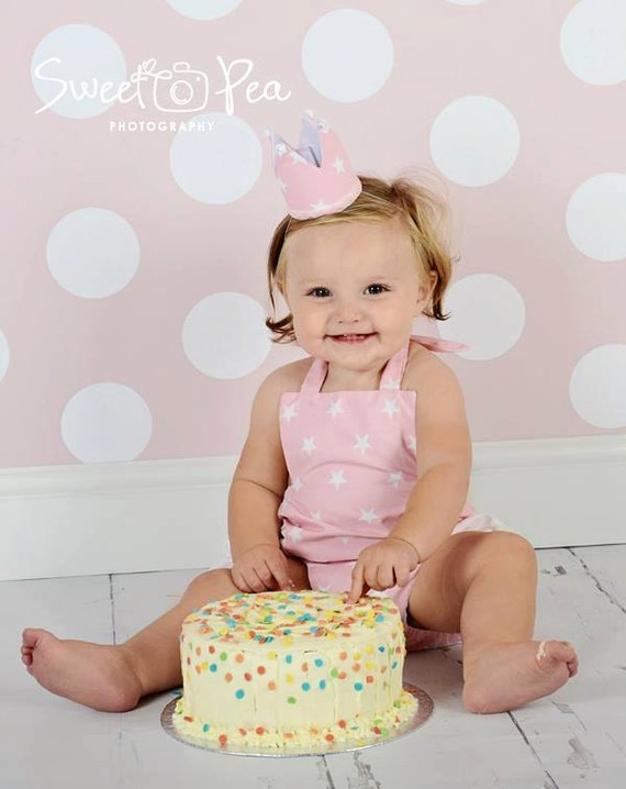Girls Cake Smash Set Ruffle Romper And Crown Age 12 24 Etsy