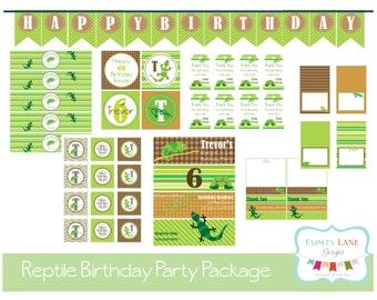 Reptile Birthday Party Bundle, Reptile Birthday Party Package, Reptile Birthday, Reptile Party, Reptile, Snakes,Boy Birthday