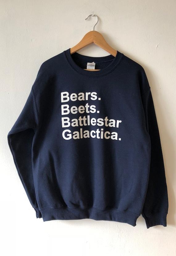 Bears Beets Battlestar Galactica Sweatshirt Sweater Crew Etsy