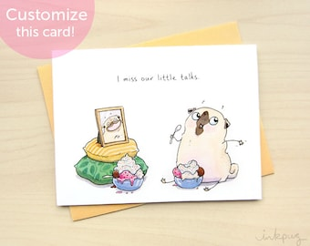 I Miss You Card Cute Ldr Card Thinking Of You Card I Love Etsy
