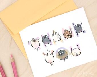 cute thank you card etsy