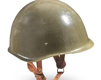 Vintage authentic Hungarian communist steel helmet army M70 hard hat socialist military olive soviet era