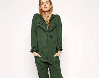 New Unissued French army tanker jump suit coverall combi overall military boiler womens
