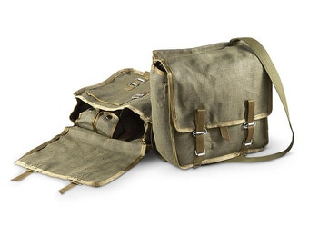 ed6a5afca56f2 Polish army canvas satchel bread bag carry fishing shoulder military new  unissued