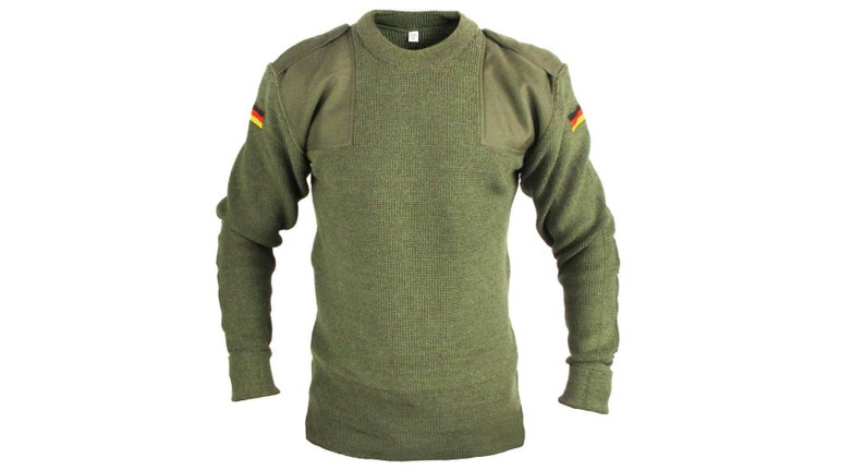 Sweaters Austrian Army Olive Wool Blend Sweater Jumper Pullover Sweatshirt Military Khaki Men's Clothing