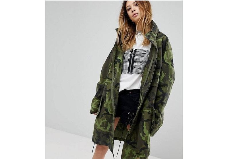 da0de1a6845ff Vintage Czech Army Women's military camo parka jacket coat | Etsy