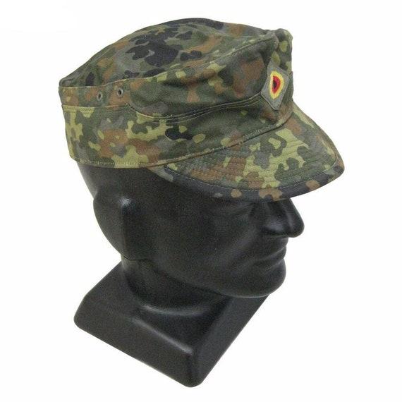 ORIGINALE esercito tedesco guanti ESTATE camuffamento FLECKTARN GUANTI PELLE TESSILE