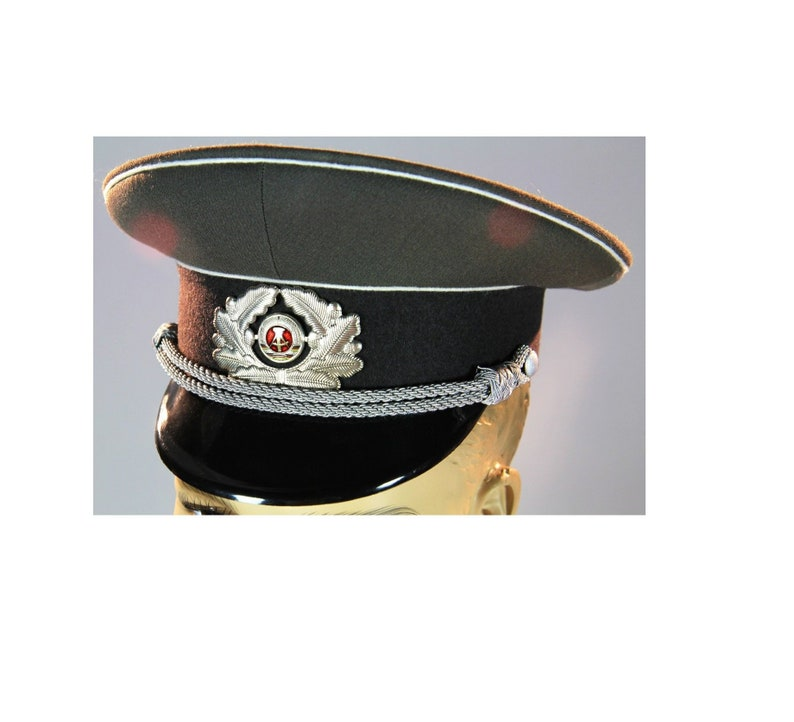 d67245640 New East German Army Officer's visor hat cap army military communist  uniform NVA DDR GDR