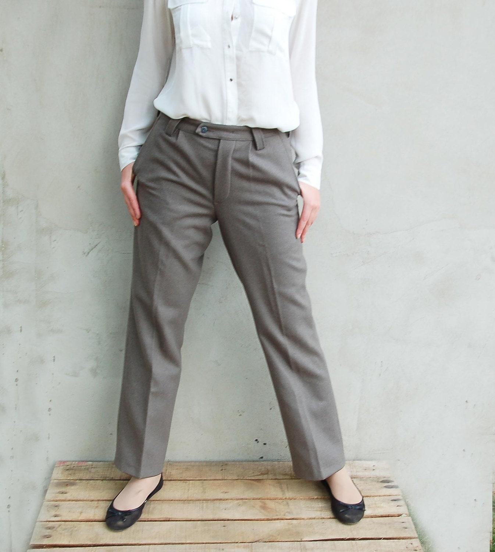 2be9f61308 Unissued Vintage East German grey wool dress trousers pants communist NVA  DDR GDR military bottoms Soviet Era