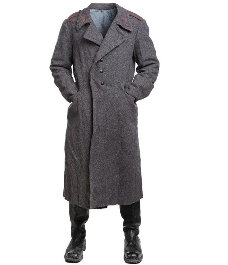 58a239ea45 Vintage Soviet Era Bulgarian wool winter Army Trenchcoat Greatcoat  Communist trench coat overcoat