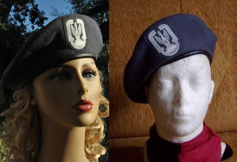 2bd64f949ae Vintage Polish Air Force Beret cap army military hat