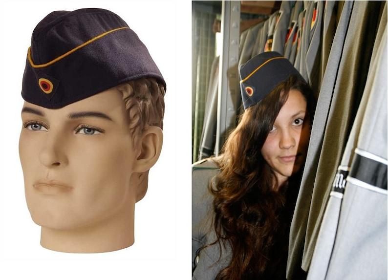 951420f2999 Vintage German Air Force navy side cap beret schiffchen