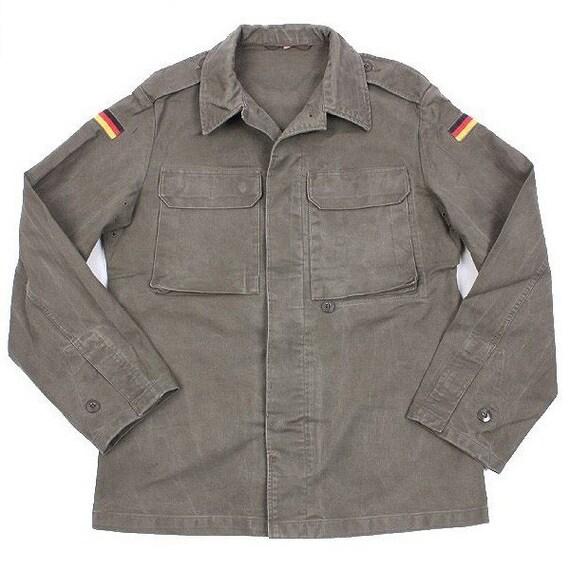Armée allemande champ Moleskine veste manteau fieldshirt olive kaki militaire surdimensionnés, nouveau type de chemise 1985 1991