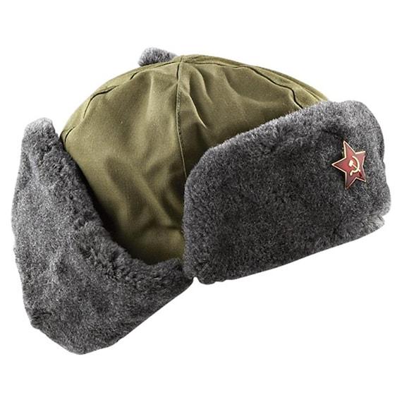 e961cbdf9 Vintage Czech cold war communist ushanka shapka hat cap winter soviet era  Czechoslovakia