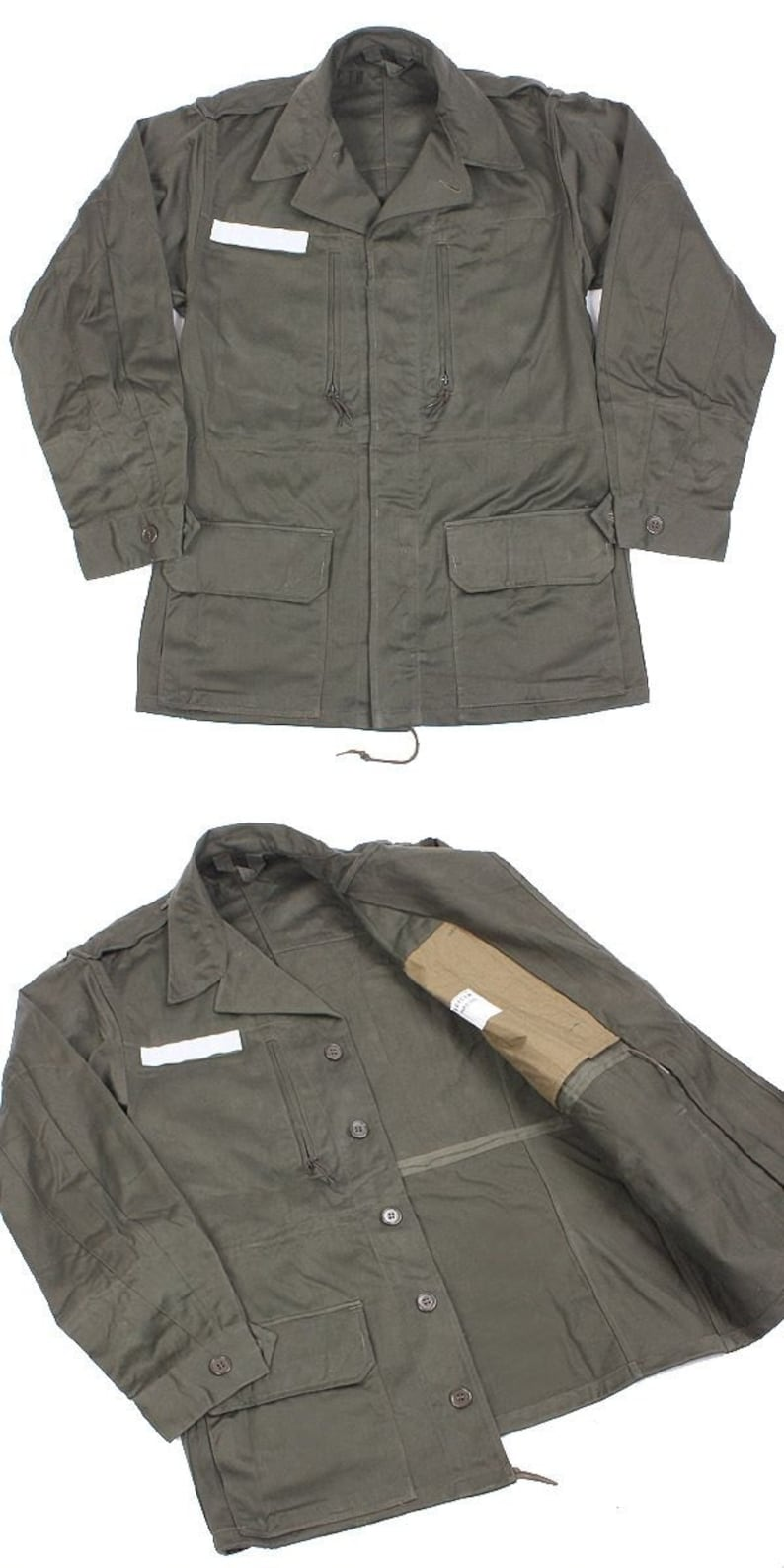 New Unissued French army M64 olive field jacket combat coat surplus  military retro urban vintage