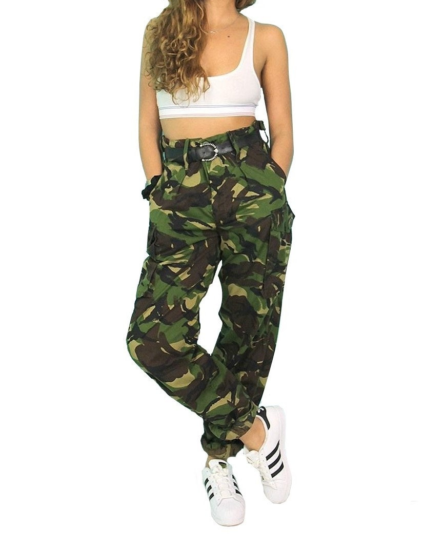 Vintage Women\'s British army soldier 95 camo trousers   Etsy