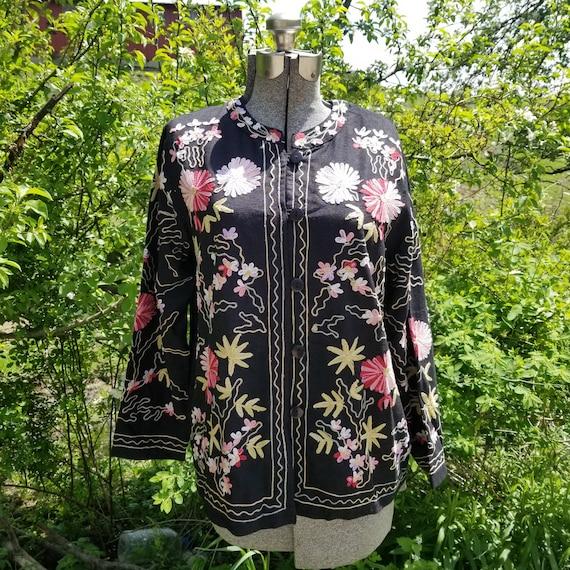 Embroidered Garden coat